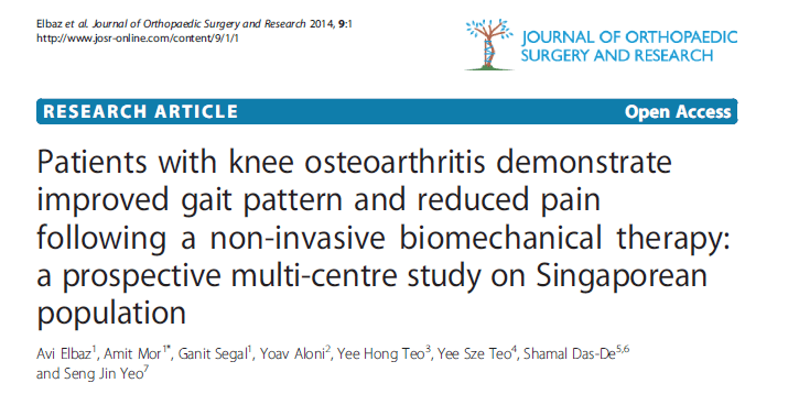 אנשים עם אוסטיאוארטריטיס של הברך מציגים שיפור בתבניות ההליכה ומדווחים על ירידה בכאב