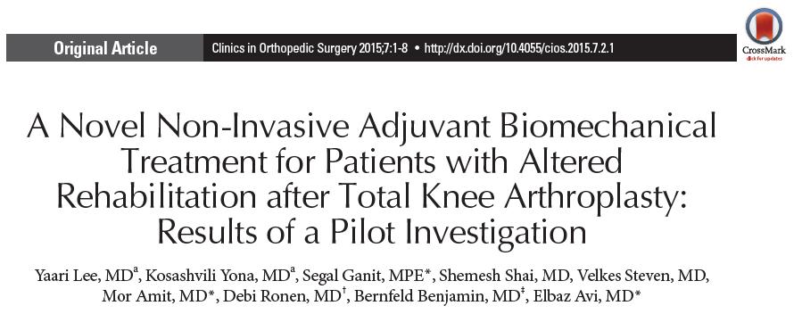 טיפול ביומכני שמרני לאנשים לאחר ניתוח להחלפת מפרק הברך ותוצאות שיקום מוגבלות