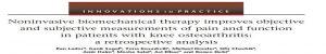 טיפול ביומכני שמרני משפר מדדי כאב ותפקוד